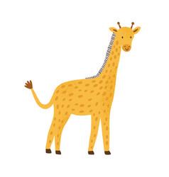 smiling funny giraffe in simple scandinavian vector image