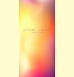 Smooth color gradient in x vector