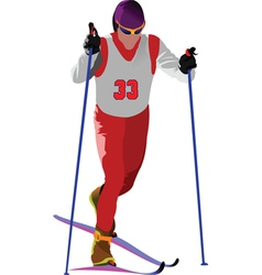 Snow skiing vector