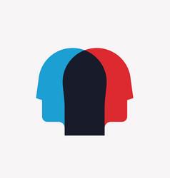 split personality psychosis mental health concept vector image