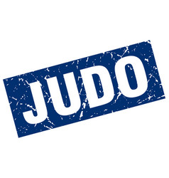square grunge blue judo stamp vector image