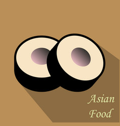 Sushi roll concept of snack susi exotic nutrition vector