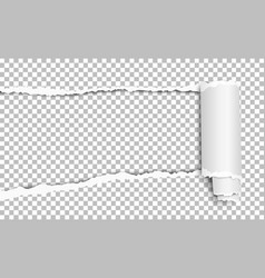 torn hole from left to right side in sheet vector image