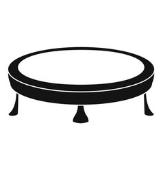 trampoline icon simple style vector image