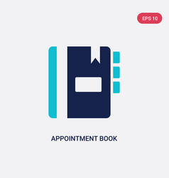 Two color appointment book icon from hygiene vector
