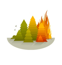 Wildfire Disaster Concept vector image