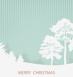 with the Christmas wood vector image
