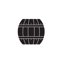 Wood barrel black concept icon wood barrel vector