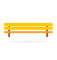 wooden bench flat material design isolated object vector image