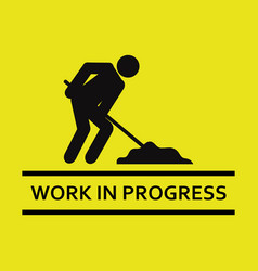 work signal icon in progress vector image