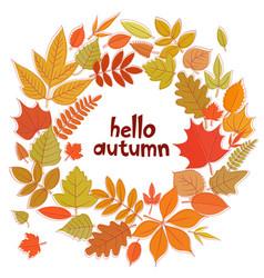 Wreath of autumn leaves vector