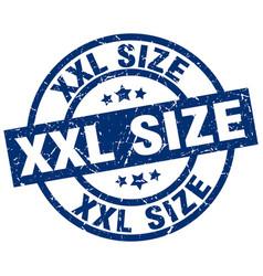 xxl size blue round grunge stamp vector image