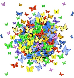 butterfly ball vector image