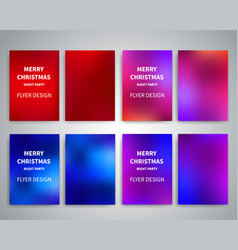 christmas flyer design templates vector image vector image