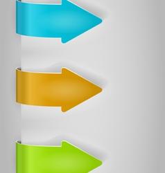 color arrows sticker set vector image vector image