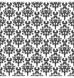 Decorative maple tree seamless pattern vector image vector image