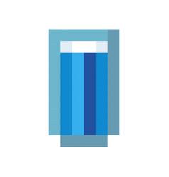 glass water drink pixel art cartoon retro game vector image vector image