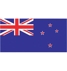 new zealand flag vector image vector image
