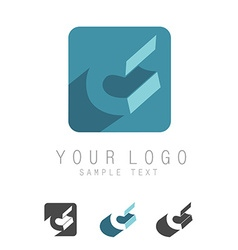 C letter icon vector image
