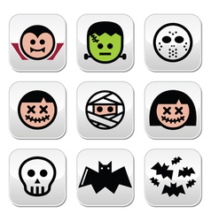 Halloween characters - Dracula monster mummy but vector image