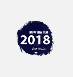happy new year 2018 text design vector image