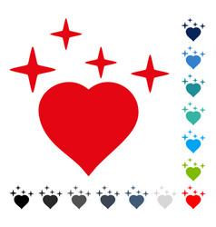 sparkle love heart icon vector image vector image