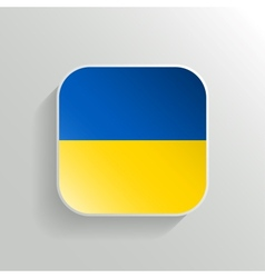 Button - Ukraine Flag Icon vector image vector image