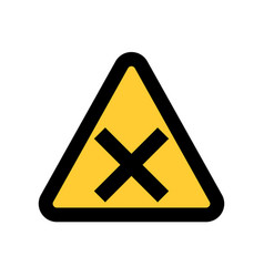 hazard warning attention sing symbol icon vector image