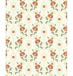 Retro floral wallpaper vector image