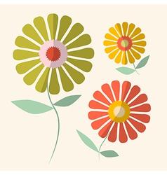 Retro of Gerbera Flowers vector image