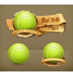 Tennis-ball icon vector image vector image
