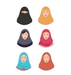 woman wear hijab veil islam tradition islamic vector image vector image