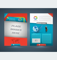 Abstract business concept Brochure Flyer design vector image