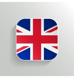 Button - United Kingdom Flag Icon vector image vector image