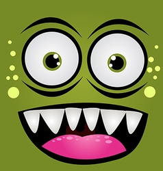 Cartoon expression monster vector image