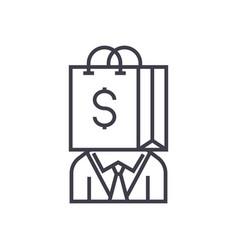consumerism line icon sign vector image vector image