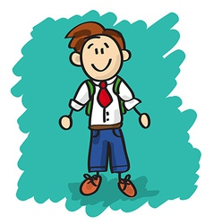 Cute cartoon little boy vector image vector image