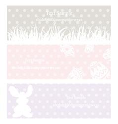rabbit grass vintage eps10 vector image vector image