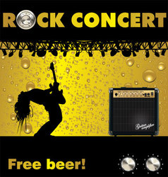 Rock concert free beer wallpaper vector image vector image