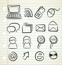 sketchy icon set vector image vector image
