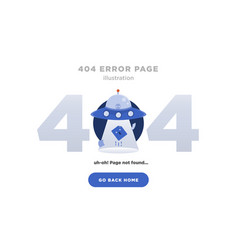 404 error page not found design with ufo vector image