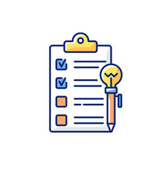 Agenda worksheet rgb color icon vector