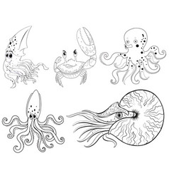 sea animal templates vector images over 2 300