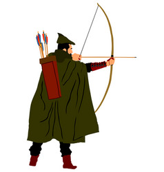 Archer isolated on white vector