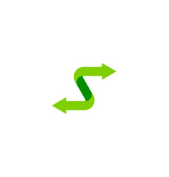 arrow letter s logo icon design vector image