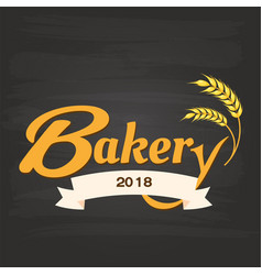 bakery 2018 ribbon malt black background im vector image