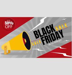 black friday sale banner vector image