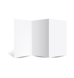 Booklet mockup isolated white background vector