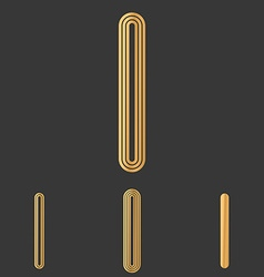 Bronze line i logo design set vector
