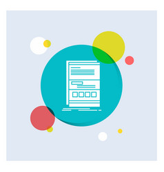 browser dynamic internet page responsive white vector image